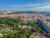 Vue aérienne de la coupole de la basilique papale de Vatican Photos libres de droits