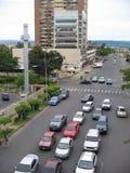 Vue aérienne de la course de Guri, Puerto Ordaz, Venezuela images libres de droits