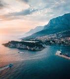 Vue aérienne de la Croatie des montagnes images libres de droits