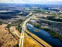 vue aérienne de la Floride centrale Images libres de droits