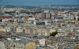 vue aérienne de la France Paris photo stock