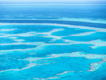 Vue aérienne de la Grande barrière de corail dans les Pentecôtes Photo stock