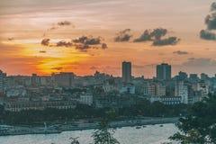 Vue aérienne de La Havane images libres de droits