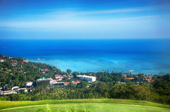 Vue aérienne de la lagune tropicale Photo libre de droits