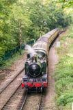 Vue aérienne de la locomotive à vapeur de 4160 vintages se déplaçant vers l'appareil-photo photo libre de droits