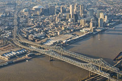 Vue aérienne de la Nouvelle-Orléans du centre Photos stock