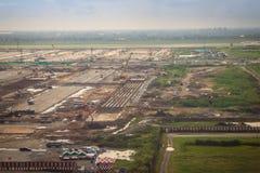 Vue aérienne de la nouvelle phase 2 d'expansion d'aéroport de Suvarnabhumi en construction Photographie stock libre de droits
