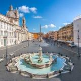 Vue aérienne de la place de Navona, Piazza Navona, à Rome, l'Italie photo stock