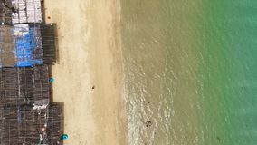 Vue aérienne de la plage clips vidéos
