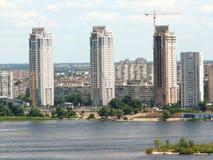 Vue aérienne de la région de sommeil de Kiev Images libres de droits