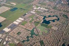 Vue aérienne de la région de verger d'élans Photo libre de droits