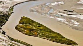 Vue aérienne de la rivière photos stock