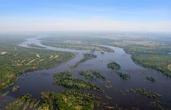 La rivière Zambesi Photo stock