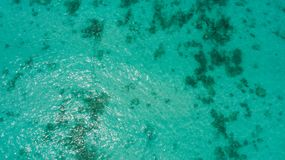 Vue aérienne de la surface d'eau de mer Image libre de droits