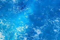 Vue aérienne de la surface de mer images stock