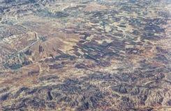 Vue aérienne de la vallée de la Bekaa, Liban photo libre de droits