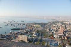 Vue aérienne de la ville d'Arica, Chili Image libre de droits