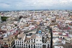Vue aérienne de la ville de Séville Photographie stock libre de droits