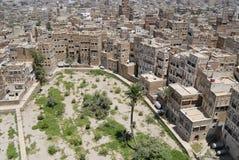 Vue aérienne de la ville de Sanaa, Sanaa, Yémen Photographie stock