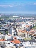 Vue aérienne de la ville Leipzig images libres de droits