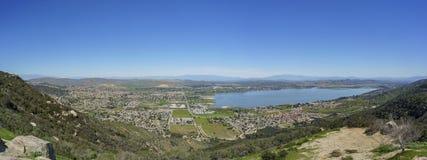 Vue aérienne de lac Elsinore photographie stock libre de droits