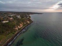Vue aérienne de lac et de forêt Melbourne, Australie Lysterfield Photos stock