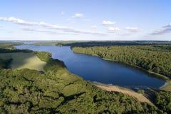 Vue aérienne de lac Farum, Danemark images stock