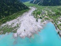 Vue aérienne de lac Issyk Photographie stock libre de droits