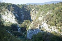 Vue aérienne de lacs Plitvice photo stock