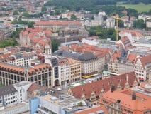Vue aérienne de Leipzig photo stock