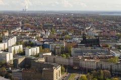 Vue aérienne de Leipzig Photographie stock