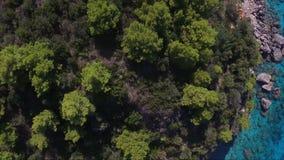 Vue aérienne de Leucade banque de vidéos