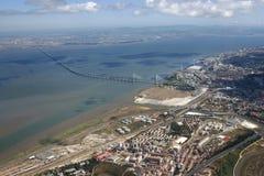 vue aérienne de Lisbonne Images stock
