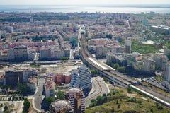 Vue aérienne de Lisbonne, la capitale du Portugal Photo stock