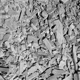 Vue aérienne de lit cassé de schiste photographie stock libre de droits