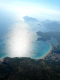 Vue aérienne de littoral Photos libres de droits