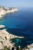 Vue aérienne de littoral d'île d'Ibiza images stock