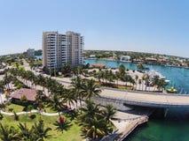 Vue aérienne de littoral de la Floride Photographie stock libre de droits