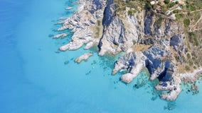Vue aérienne de littoral de Vaticano de capo, Calabre - Italie image stock