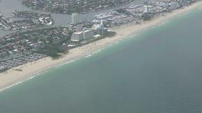 Vue aérienne de littoral de la Floride banque de vidéos