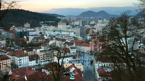 Vue aérienne de Ljubljana, Slovénie clips vidéos