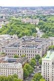 Vue aérienne de Londres avec le Buckingham Palace Image stock