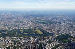 Vue aérienne de Londres centrale Image libre de droits