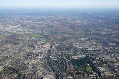 Vue aérienne de Londres centrale Images stock