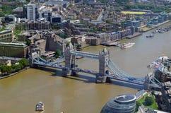 Vue aérienne de Londres du tesson Photo libre de droits