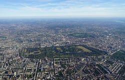 Vue aérienne de Londres et de Hyde Park centraux Photos libres de droits