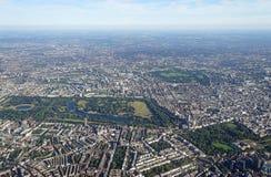 Vue aérienne de Londres et de Hyde Park centraux Photos stock