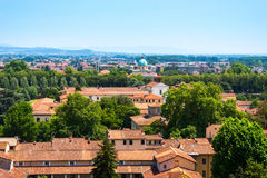 Vue aérienne de Lucques, Italie Photos libres de droits