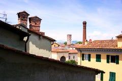Vue aérienne de Lucques, Italie Photo stock