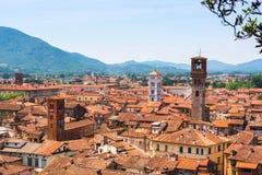 Vue aérienne de Lucques, Italie Photo libre de droits